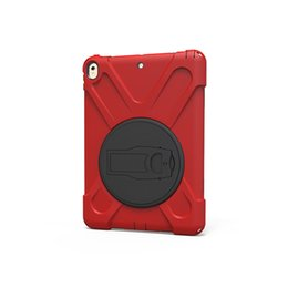 Wholesale Kids Ipad Tablet - 360 Rotating Silicone Hard Back Cover for Apple iPad Pro 10.5 2017 A1701 A1709 Tablet Shockproof Kids Holder Case +Pen