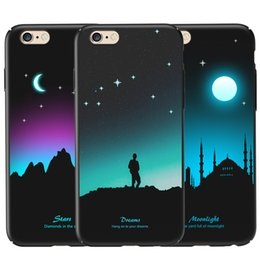 Wholesale Color Changing Paint - Luminous Protective Case for iPhone 6   6s Glow in the Dark Fluorescent Color Changing 3D Relief Painting Slim Hard Back Shell