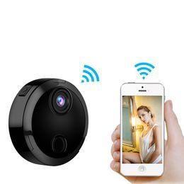 Wholesale network detection - HDQ15 Smart Wifi Mini Camera HD 1080P IP Network Camcorder 12 IR Night Vision Motion Detection Sensor Car Sports Action DV DVR