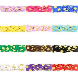 Yeni 12 Renkler Bebek Kız Altın Nokta Örgülü Çapraz Bantlar Çocuklar Düğümlü Kafa bantları Çocuk Saç Aksesuarları Headwrap Headbands KHA269 supplier braid headwrap nereden örgülü kafa sarma tedarikçiler