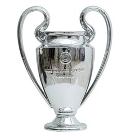 Ventilatori di metallo online-11.5KG 77 centimetri full Champions League Little Trophy Fan di calcio per le collezioni in metallo argento parole di colore con Madrid