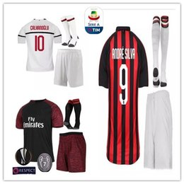2018 2019 Milano Soccer Jersey 18 19 Adult suit 9  HIGUAIN 10  CALHANOGLU  13  ROMAGNOLI 63  CUTRONE Away milan third football shirt uniforms f33f878b8
