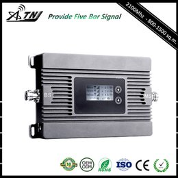 Wholesale Mobile Cell Phone Repeater - 2018 New ATNJ High Gain Mobile Signal Booster WCDMA 2100MHz Cell Phone Repeater Amplifier with Yagi Antenna