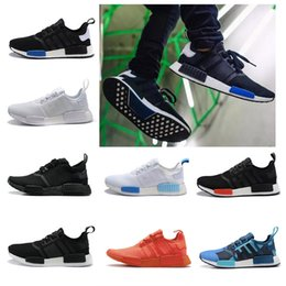 Wholesale Red Light Love - Cheap love NMD Runner R1 Primeknit Black Triple Run Running Shoes Men & Women Lover's Lightweight Breathable Athletic outdoor Sports Shoes