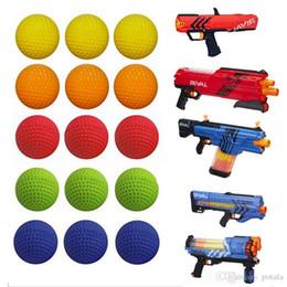 Armas de eva on-line-Redondos balas da arma brinquedos EVA Pistola Bola miúdos modelo Brinquedos 2,2 centímetros Para AR15 Elite Series Refill azul macia Foam Bala Darts Toy BB Gun Airsoft arma