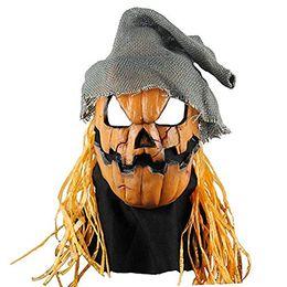 princesa pelo ups Rebajas Nueva llegada Máscara de cabeza de miedo Máscaras de calabaza de Halloween Máscara de cosplay de disfraces con sombrero Máscara de Navidad de fiesta