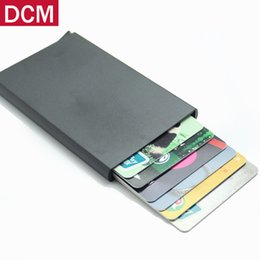 Wholesale Aluminum Wallets - High QualitId metal credit card holder Automatic pop up aluminum wallet Antitheft Rfid Blocking Wallet pass port holder