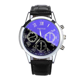 Wholesale wholesale watchs - top luxury brand mens watchs YAZOLE Men Business Design Dial Canvas Band Analog Quartz Wrist Watch montre homme marque Splendid