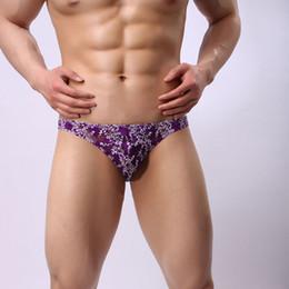 Wholesale See Through Brief Panties - Sexy Men's Briefs Hot Bikini Underwears Sissy Panties Lace See Through Men's Low Waist U Convex Pouch Stretch Underpants Underwears