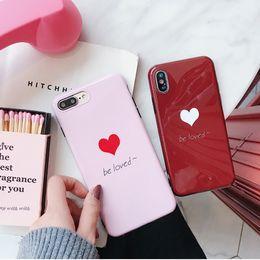 Wholesale Tpu Case Iphone Heart - Cute Blu-ray Love Heart Phone Case for Apple iphone X 7 8 7plus 8plus Soft TPU Case for iphone X 6 6S Plus