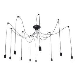 Wholesale Spider Ceiling Lamp - Vintage Edison Multiple Adjustable DIY Ceiling Spider Lamp Light Chandelie (10 head cable 200cm 78.8inch each)