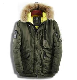 Argentina Suelta kenntrice winter parkas hombres chaqueta militar frente a bolsillo de piel de cuello con capucha abrigo largo Suministro