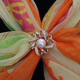 Canada Personnalisé beauté enveloppé foulard en soie boucle petit et exquis drone ruban perle foulard bouton fille écharpe fabricants en gros direct Offre