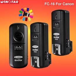 pentax k7 Rabatt Godox FC-16 16 Kanäle 2,4G Wireless Remote Flash Trigger Studio Strobe 2 Empfänger für DSLR-Kamera / Pentax cs-205