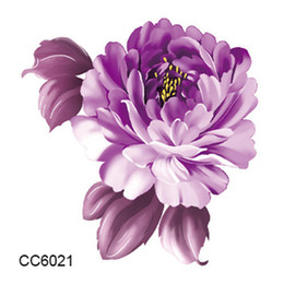 Wholesale Flower Designs For Tattoos - Mini Body Art waterproof temporary tattoos for women individuality flower design flash tattoo sticker Free Shipping CC6021