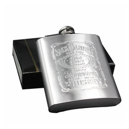 Wholesale honest steel - Portable 7oz Stainless Steel hip flask with Box as Gift Whiskey Honest Flask Bole Mug Wisky Jerry Can k2003