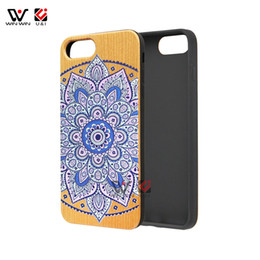 Wholesale Cell Phone Covers Animal Print - UV printing wood cell phone cases for iPhone x 7plus 8plus 6 6s 7 8 plus 3D animal series back cover painting design