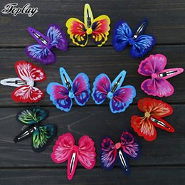 Wholesale Girls Ribbon Ponytail Hair Bow - Toplay 60pcs  Lot 2 .6 ''Grosgrain Ribbon Butterfly Hair Bows With Bb Hair Pins Girls Cute Ponytail Boutique Bows