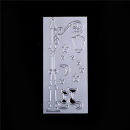 Wholesale craft dies - DIY Paper Cards Street Lamp Pattern Metal Crafts Cutting Dies Stencils for DIY Scrapbook Craft Embroidery Cutting Die