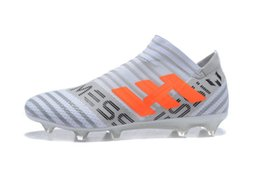 Wholesale Ground Yellow - 2018 Firm Ground Nemeziz Messi 17+ 360 Agility FG Soccer Shoes Outdoor Nemeziz 17.1 Football Boots Soccer Cleats Mens Football Shoes