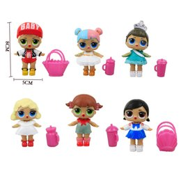 Wholesale classic toys wholesale - 6Pcs lot LoL Doll Unpacking High-quality Dolls lol Baby Tear Open Color Change Egg LoL Bebek Doll Action Figure Toys Girls Gift