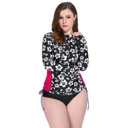 51a26a4fc57 China 2018 Women Big Size Swimwear Sexy Long Sleeves Tankini Ladies Beach  Wear Big Chest Sport