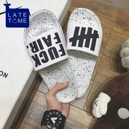 Wholesale popular showers - Summer flip-flops man popular logo100 fashion a flip-flop in the home indoor bath bathroom to avoid slipping out of the shower.