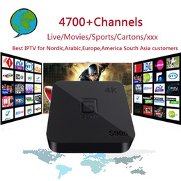 Wholesale Adult Tv Box - S905 4K Android 5.1 TV box with 4700+ Channels Nordic,Arabic,Europe,America South Asia IPTV with Adult Gift Set Top Box