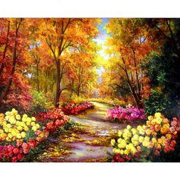 Paysage de forêt Peinture De Bricolage Par Nombres Photo Moderne Mur Art Toile Peinture Acrylique Peint À La Main Drop Shipping ? partir de fabricateur