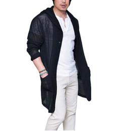 2019 bolsillos largos de punto cardigan Chaqueta con capucha de los nuevos hombres del estilo chaqueta de punto delgado de manga larga de punto delgado bolsillo chaqueta rompevientos desgaste de los hombres rebajas bolsillos largos de punto cardigan