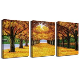 gold framed paintings Coupons - Oil Painting Gold Ground Canvas HD Print Poster Home Decor Canvas Art Wall Painting Poster Framed