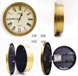 Relógio de parede de segurança on-line-1 peça Antiga figuras de Roma Safe Box Relógio de Parede de Segurança Seguro Jóias de Armazenamento De Dinheiro Montado Na Parede Secreto Caixa de Presente Decoração Relógio