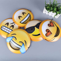 Wholesale Diy Party Face Props - DIY Emoji Mask Cartoon Lovely Yellow Smile Masquerade Masks Halloween Props Party Supplies Many Styles 1 85jh C