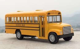 Wholesale Toy Car Model Buses - Brand KiNSMART 1:32 American School Bus Diecast Metal Car Model Toy For Kids Collection Gift Toys Free Shipping chrismas gift car toy