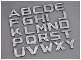 logotipos para pára-brisa do carro Desconto Diy de cristal de luxo diy números de metal letras 3d adesivos de carro acessórios de decoração forbmw vw golf 4 5 6