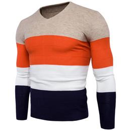 v-pullover männer tragen Rabatt Pullover Männer 2018 Neue Ankunft Herbst Winter V-ausschnitt Vier-farben Patchwork Männer Pullover Pullover Kleidung Fremde Dinge Out Wear