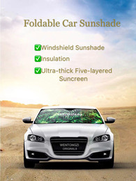 Wholesale front windshield sun shade visor - Original Car Windshield SunShade - Blocks UV Rays Sun Visor Protector Minimalist Fashion Design Famous Painting Convenience Foldable