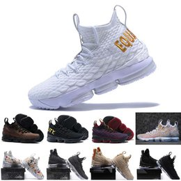 Wholesale single shoes - 2018 High Quality Newest Ashes Ghost lebron 15 Basketball Shoes shoes Arrival Sneakers 15s Mens Casual Shoes 15 40-46