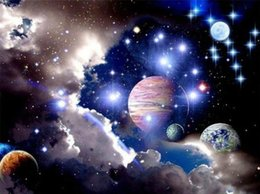 Cielo hermoso diamante online-Taladro completo 5d Diamond Painting -Beautiful Planet Starry Sky- Arts Craft para el hogar Decoración de pared regalo DIY kits de pintura del diamante