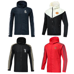 97de2d7ec22 AAA + Real Madrid PSG Juventus United sudadera con capucha 2018/19 con  capucha MBAPPE ROSSI M.SALAH cortaviento chaqueta de manga larga chaqueta