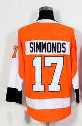 Wholesale Orange Gear - Discount Cheap 2018 NEW MENS 17 SIMMONDS 28 GIROUX 53 GOSTISBEHEE Orange Stitched Jersey,Various Ice Hockey Gear,Cheap MEN Hockey Jerseys