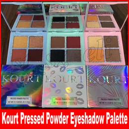 Wholesale shimmer eye shadows - KOURT Eyeshadow PALETTE KOURT Eye shadow pressed powder palette 4 colors highlighters free shipping