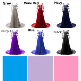 Robes de soirée détachables de dentelle de robe de mariage en dentelle chaude robes de bal 6 couleurs choisissent en gros ? partir de fabricateur