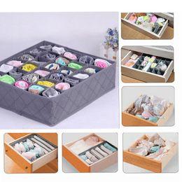 Wholesale underwear closet - 30 Cells Square Storage Box Underwear Socks Drawer Closet Organizer Storage Box Home storage box EEA116