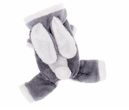 Canada Lapin Tourné Petit Vêtement De Chien Hiver Réchauffé Pet Four Legs Vêtements À Capuche Chien Manteau Veste Pet Costume De Noël Teddy cheap legged winter dog coat Offre