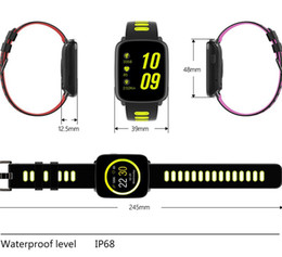 Wholesale Monitor Strap - GV68 Smart Watch Waterproof Ip68 Heart Rate Monitor Bluetooth Smartwatch Swimming with Replaceable Straps for Android