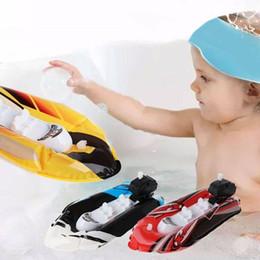 Baby Kid Clockwork Wind Up Gommone Boat Ship Play Acqua Bagno Bath Toy Pattern casuale 2018 Nuovo arrivo di alta qualità da spazzole di pulizia dei tipi fornitori