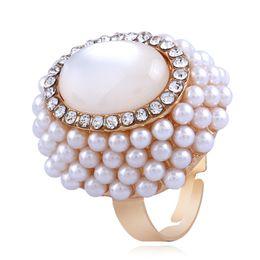 CHAOMO beliebte Mode Zeigefinger Schmuck Damen öffnen Perle Opal Ring Fabrik Großhandel von Fabrikanten