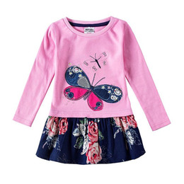 Argentina novatx H5460 niñas vestidos niños ropa mariposa niños vestidos niñas nova ropa de bebé otoño niños vestir niño niña vestidos Suministro
