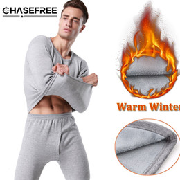 Wholesale long johns sets for men - 2016 Winter Men's Thermal Underwear Sets High Quality Mens Warm Long Johns Thick Plus Velet Underwear Thermal Clothing For Men